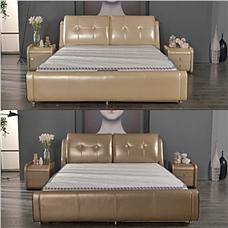 艾芙兰尼时尚卧室1.8米皮床