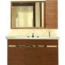 诺肯不锈钢现代木纹浴室柜全套