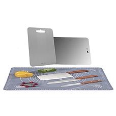 百勒维抗菌不锈钢菜板套组