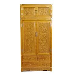 金丝水波纹楠木八仙顶箱柜