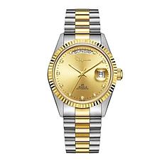 雷曼18K金蚝式真钻腕表