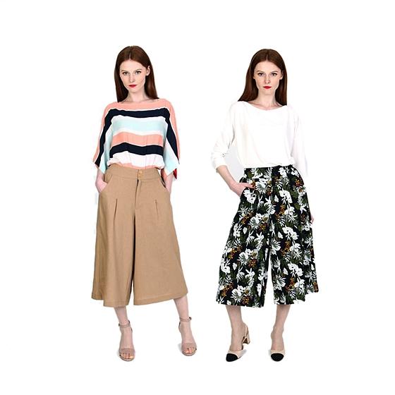 KEEFE夏日風情時尚裙褲