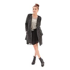 米娜都市丽人羊毛大衣组