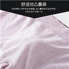 彩棉无缝男士内裤4件组