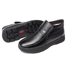 CROCODILE鳄鱼恤头层牛皮棉鞋
