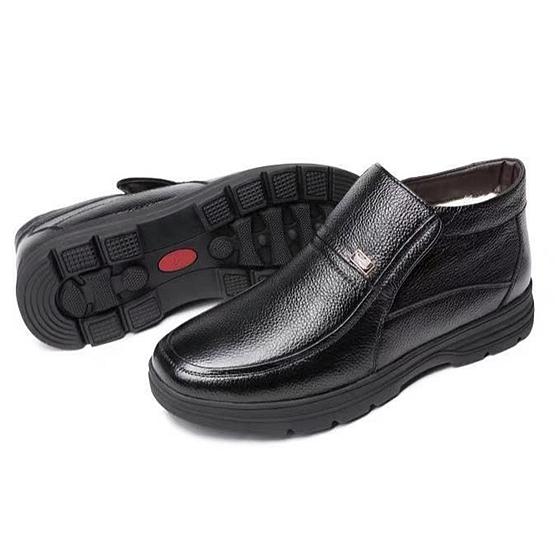 CROCODILE鱷魚恤頭層牛皮棉鞋