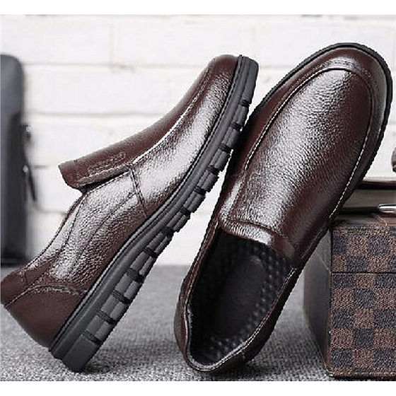 鱷魚恤頭層牛皮男鞋組