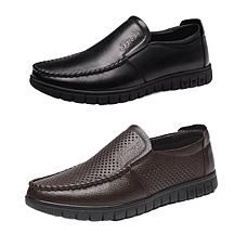美国苹果男士舒适头层牛皮鞋