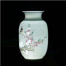 《满庭春》玲珑瓷对瓶