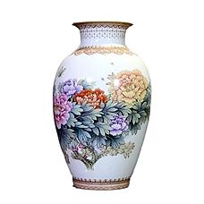 《花开富贵》手绘粉彩瓶