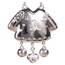 中国白银皇袍加身宝宝锁