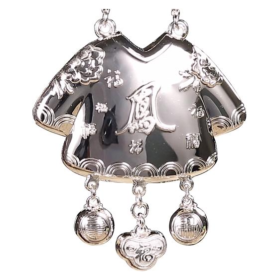 中國白銀皇袍加身寶寶鎖