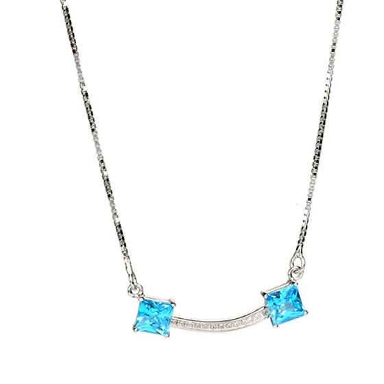 简.珠宝蓝水晶元素项链