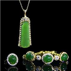 JCN珠宝满绿翡翠套组