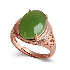 老矿和田碧玉戒指